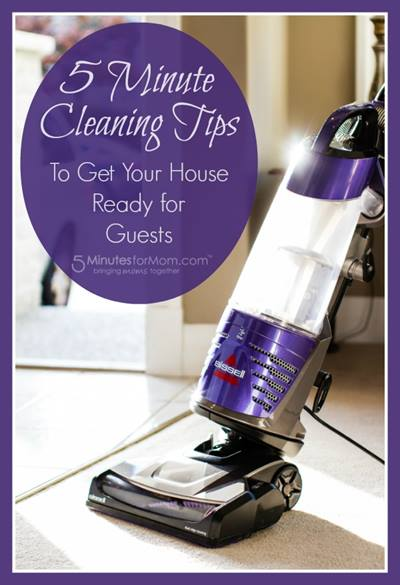 5 Minute Cleaning Tips to Get Your House Ready for Guests