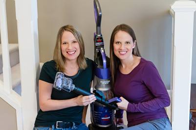Susan and Janice with PowerGlide vacuum