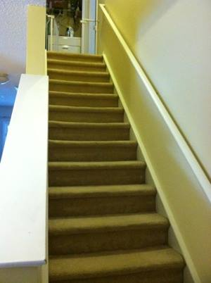 Carpeted steps