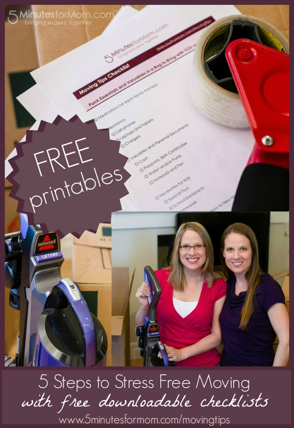 5 Steps to Stress Free Moving with free downloadable checklists