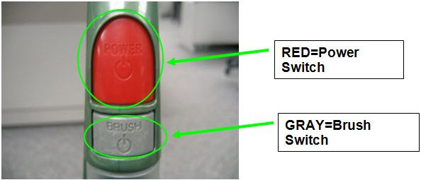 Red=Power Switch; Gray=Brush Switch