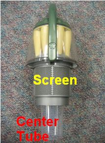 Screen; center tube