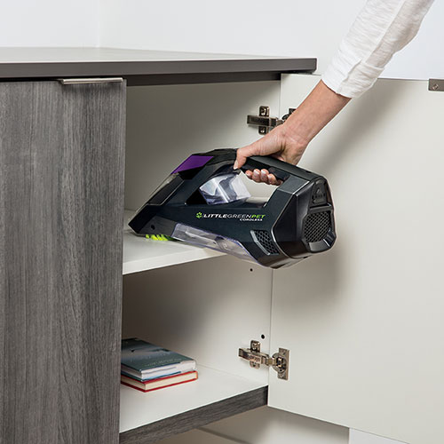 Little Green Cordless 2164 BISSELL Carpet Cleaners Cupboard