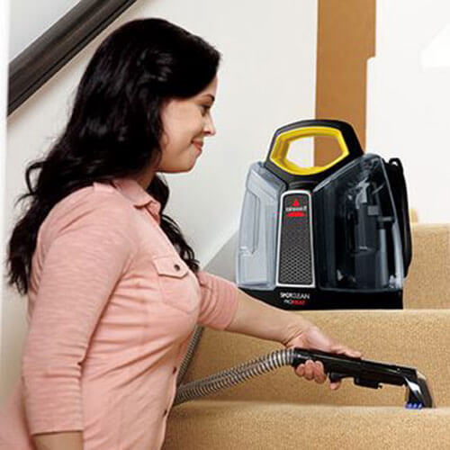 SpotClean Advance Portable Carpet Cleaner 5207J BISSELL Stairs