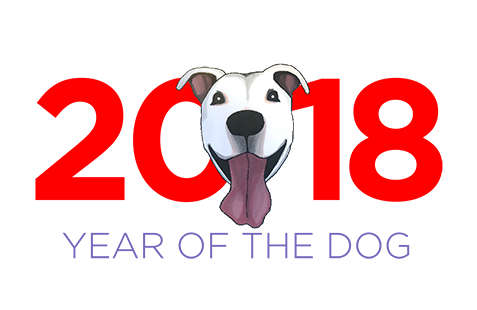 2018 year of the dog tile