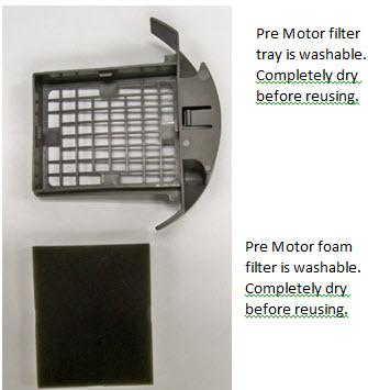 3920 Pre Motor filter tray and filter