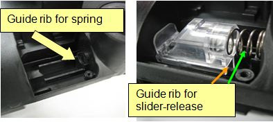 Lift off vac guide rib