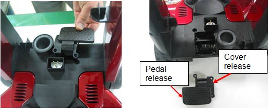 Lift off vac pedal release