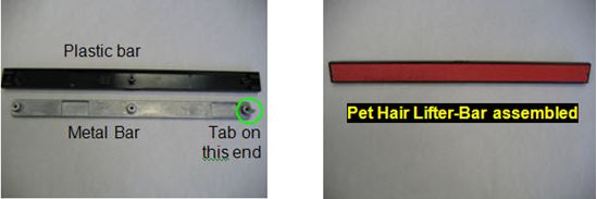 Pet hair eraser parts
