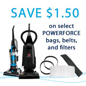 Save $1 50 off Bags, Belts and Filters for select Vacuums