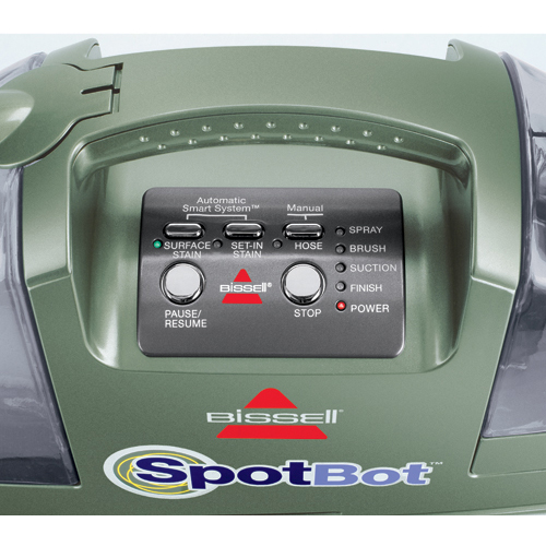 Spotbot Portable Carpet Cleaner 12005 Control Panel