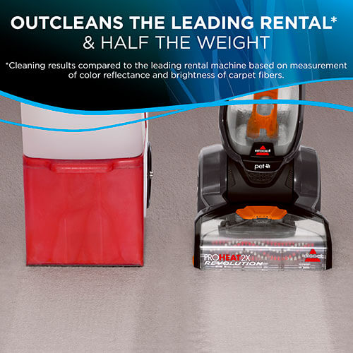 1548 ProHeat 2X Revolution Pet Carpet Cleaner Leading Rental Cleaner Comparison