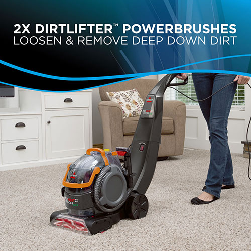 Proheat X LiftOff Pet Upright Carpet Cleaners BISSELL - Lift off floor removal