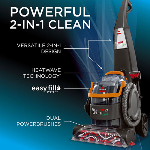 ProHeat 2X LiftOff Pet Upright Carpet Cleaner 15651 features