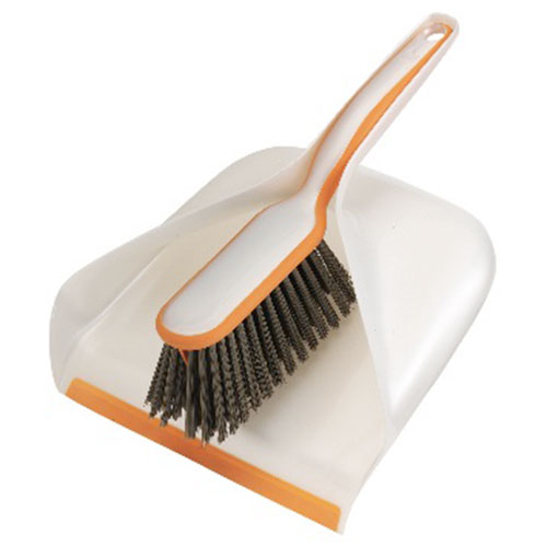 lobby broom and dustpan combo set quickie 2 hand