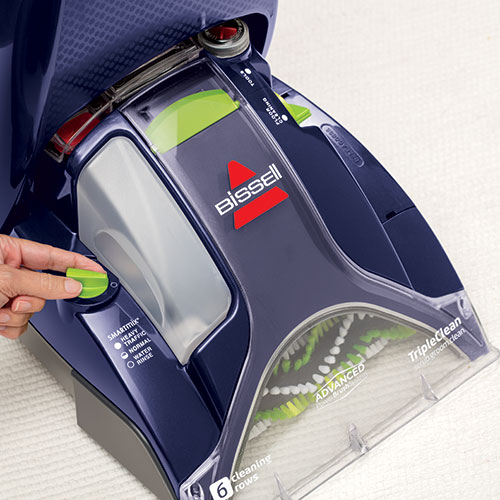 bissell pet carpet cleaner how to use