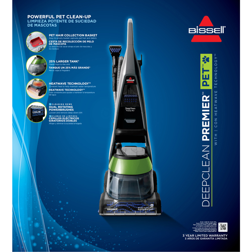 ... DeepClean_Premier_Pet_Carpet_Cleaner_17N4_Heatwave_Technology;  DeepClean_Premier_Pet_Carpet_Cleaner_17N4_Product_Packaging