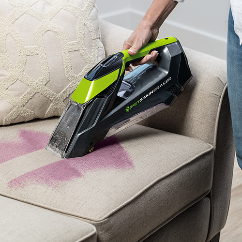 Pet Stain Eraser 2003 BISSELL Portable Carpet Cleaners Light Couch