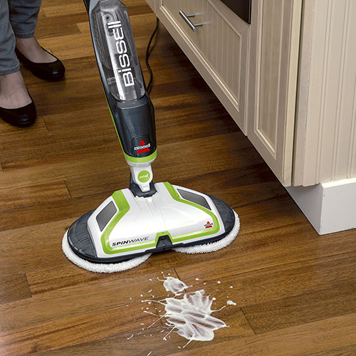Hardwood Floors Spinwave Spray Mop With Dual Spinning Pads