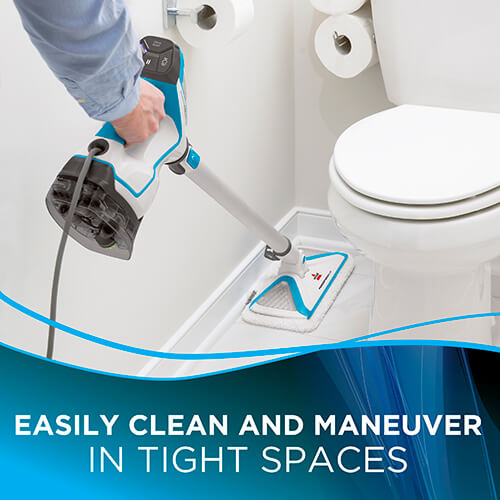 Slim Steam Lightweight Mop Hard Floor Cleaner Bathroom Flooring