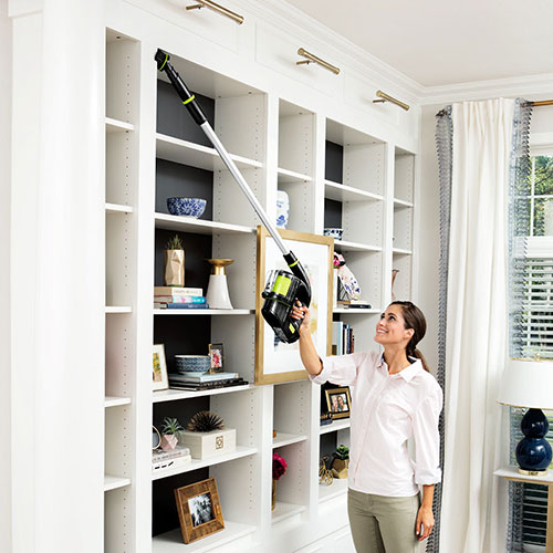 Multi Reach Cordless Vacuum Cleaner Large Book Case