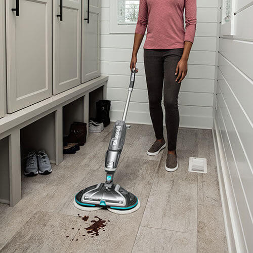 SpinWave_Cordless_2315_BISSELL_Hard_Floor_Spin_Mop_Foot_Mud_Mess