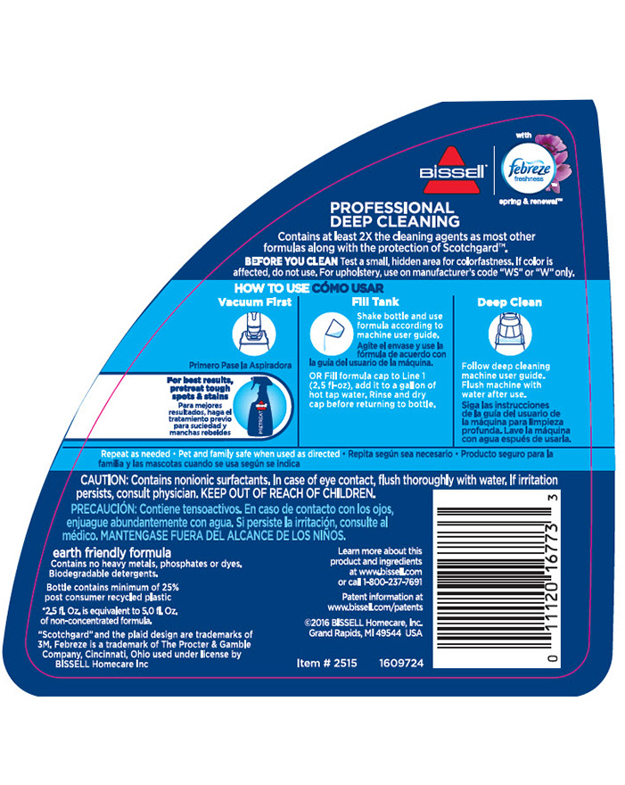 Professional Cleaning W Febreze 174 Formula 2515 Bissell 174