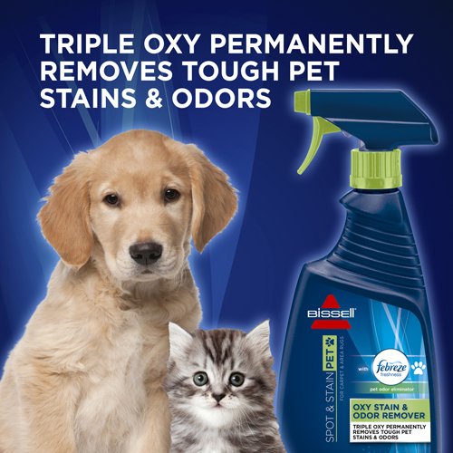 BISSELL Pet Oxy Stain Odor Remover with Febreze 2867 Pet Stains