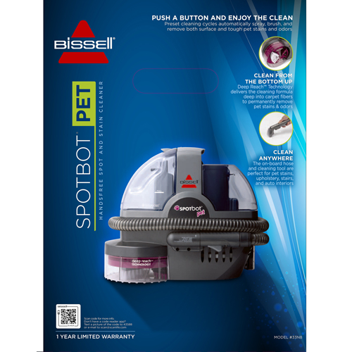 33N8 SpotBot Pet Portable Carpet Cleaner Product Packaging