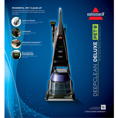 DeepClean Deluxe Pet Carpet Cleaner Product Packaging