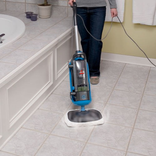 LiftOff Steam Mop 39W7 Bathroom Floor Cleaning
