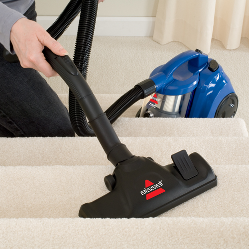 Zing Bagless Canister Vacuum Stair Cleaning