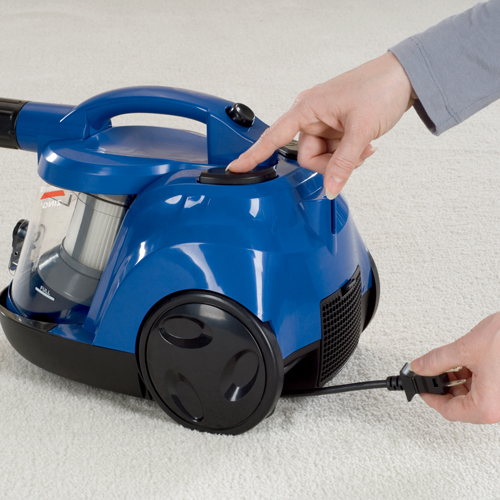 Zing Bagless Canister Vacuum Automatic Cord Rewind