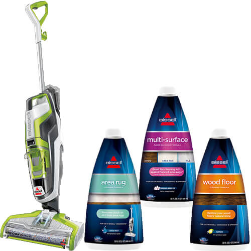 BISSELL Crosswave Wet Dry Floor Cleaner Formula B0084 Bundle